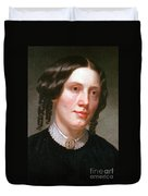 Harriet Beecher Stowe, American Duvet Cover by Photo Researchers