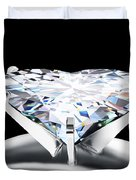 Heart Diamond Duvet Cover by Setsiri Silapasuwanchai