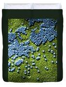 Hepatitis Virus Duvet Cover