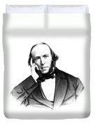 Herbert Spencer, English Polymath Duvet Cover by Science Source