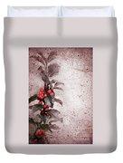 Holly Branch  Duvet Cover