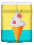 Ice Cream On Hand Made Paper Duvet Cover