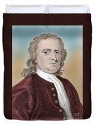 Isaac Newton, English Polymath Duvet Cover