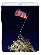 Iwo Jima Memorial At Dusk Duvet Cover