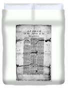 Jefferson: Inauguration Duvet Cover