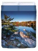 Lake George At Killarney Provincial Park In Fall Duvet Cover