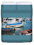 Maltese Harbor Duvet Cover