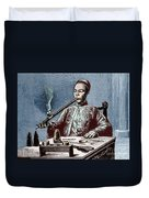 Man Smoking Opium Duvet Cover by Science Source