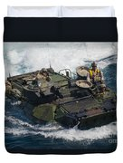 Marines Navigate An Amphibious Assault Duvet Cover