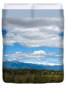 Massive Cloudy Sky Above The Wilderness  Duvet Cover