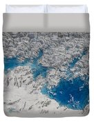 Meltwater Lakes On Hubbard Glacier Duvet Cover