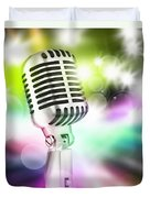 Microphone On Stage Duvet Cover