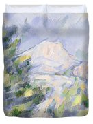 Mont Sainte-victoire Duvet Cover by Paul Cezanne
