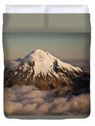 Mount Taranaki Above The Clouds New Duvet Cover