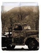 New Mexico Winter Duvet Cover