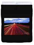 Night Traffic Duvet Cover