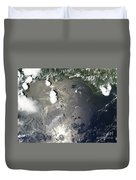 Oil Slick In The Gulf Of Mexico Duvet Cover by Stocktrek Images