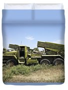 Old Russian Bm-21 Launch Vehicle Duvet Cover