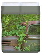 Overgrown Rusty Ford Pickup Truck Duvet Cover