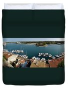 Panoramic Town 1 Duvet Cover