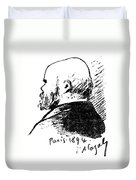 Paul Verlaine (1844-1896) Duvet Cover