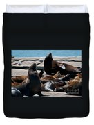 Pier 39 San Francisco Duvet Cover