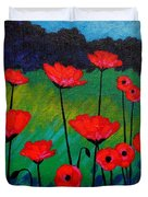 Poppy Corner Duvet Cover by John  Nolan