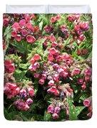 Pulmonaria Named Raspberry Splash Duvet Cover