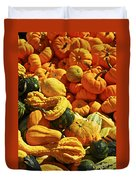 Pumpkins And Gourds Duvet Cover