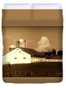 Cattle Farm Mornings Duvet Cover