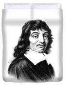 Ren� Descartes, French Polymath Duvet Cover