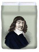 Rene Descartes, French Polymath Duvet Cover