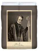 Richard Owen, English Paleontologist Duvet Cover