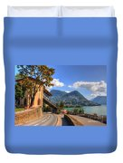 Road And Mountain Duvet Cover