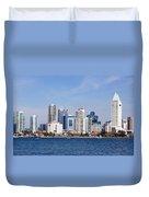 San Diego Skyline Duvet Cover by Jeff Lowe