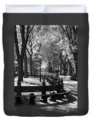 Scenes From Central Park Duvet Cover
