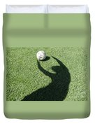 Shadow Playing Football Duvet Cover