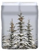 Snow Covered Evergreen Trees Calgary Duvet Cover