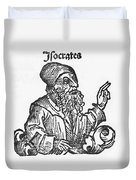Socrates, Greek-athenian Philosopher Duvet Cover