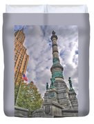 Soldiers And Sailors Monument In Lafayette Square Duvet Cover