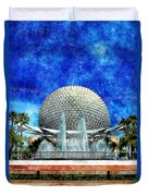 Spaceship Earth And Fountain Of Nations Duvet Cover