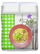 Spaghetti Al Pesto Duvet Cover by Joana Kruse