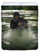 Special Operations Forces Soldier Duvet Cover