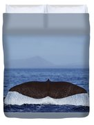Sperm Whale Tail New Zealand Duvet Cover