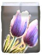 Spring Time Crocus Flower Duvet Cover