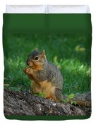 Squirrel Eating Duvet Cover
