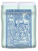 St. Catherine, Italian Philosopher Duvet Cover
