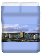 Standing Stones, Blacksod Point, Co Duvet Cover