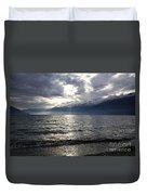 Sunlight Over A Lake Duvet Cover