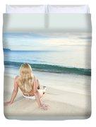 Sunrise Woman Duvet Cover